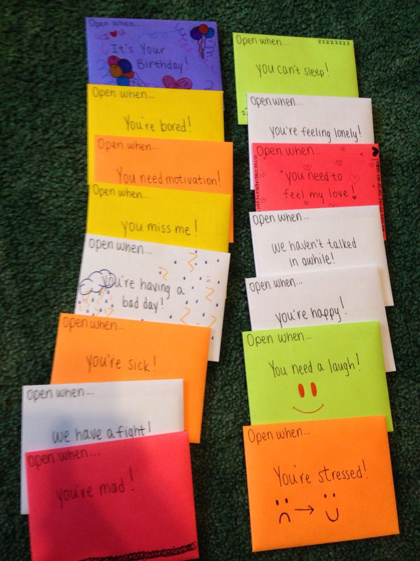 Open When Letters Idea  Surprise Him    Gift Craft