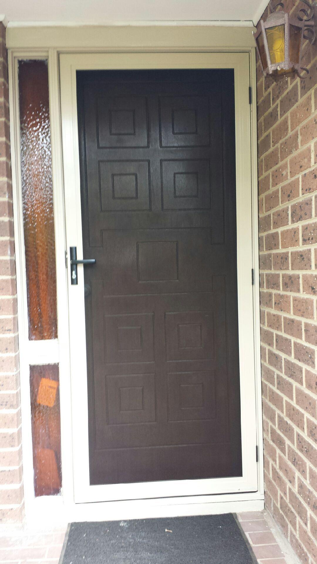 Aluminum Frame Security Door With Stainless Steel Mesh Installed In Burwood Security Door Door Installation Install Screen Door