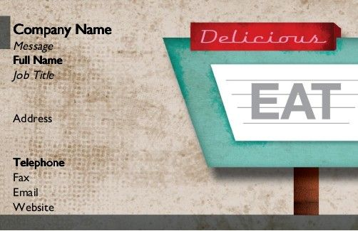 Restaurant sign business cards ideas restaurant eateries new order your restaurant sign business cards for high quality printing fast delivery colourmoves