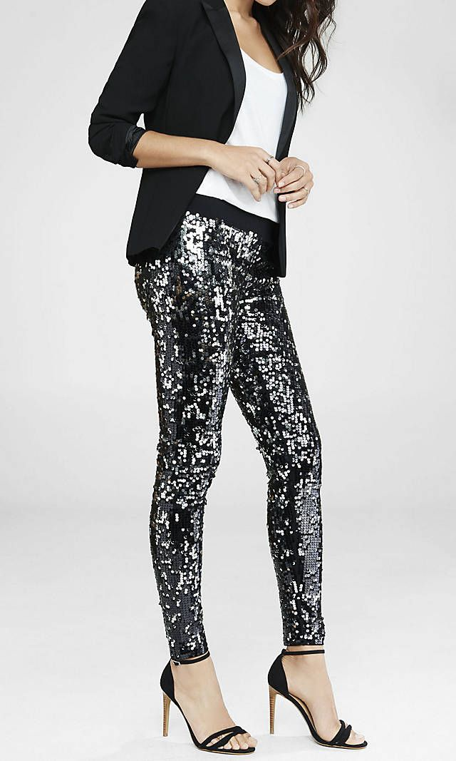 f8cdc870580c5c What to Wear: New Years Eve | New Years Ideas | Sequin leggings ...