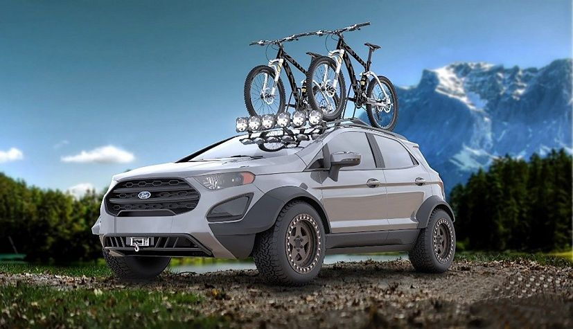 Ford Exibe Versoes Tunadas Do Ecosport Ranger E Mustang Em Feira