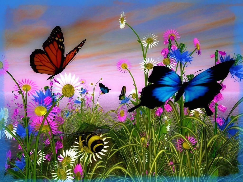 Imagenes de paisajes de la primavera plantas y jardines for Fotos de jardines
