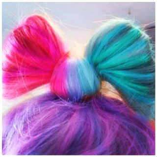 Bright colored hair bow