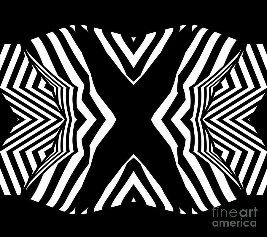 Black and White Abstract Art No.313. Digital Art - Black and White ...