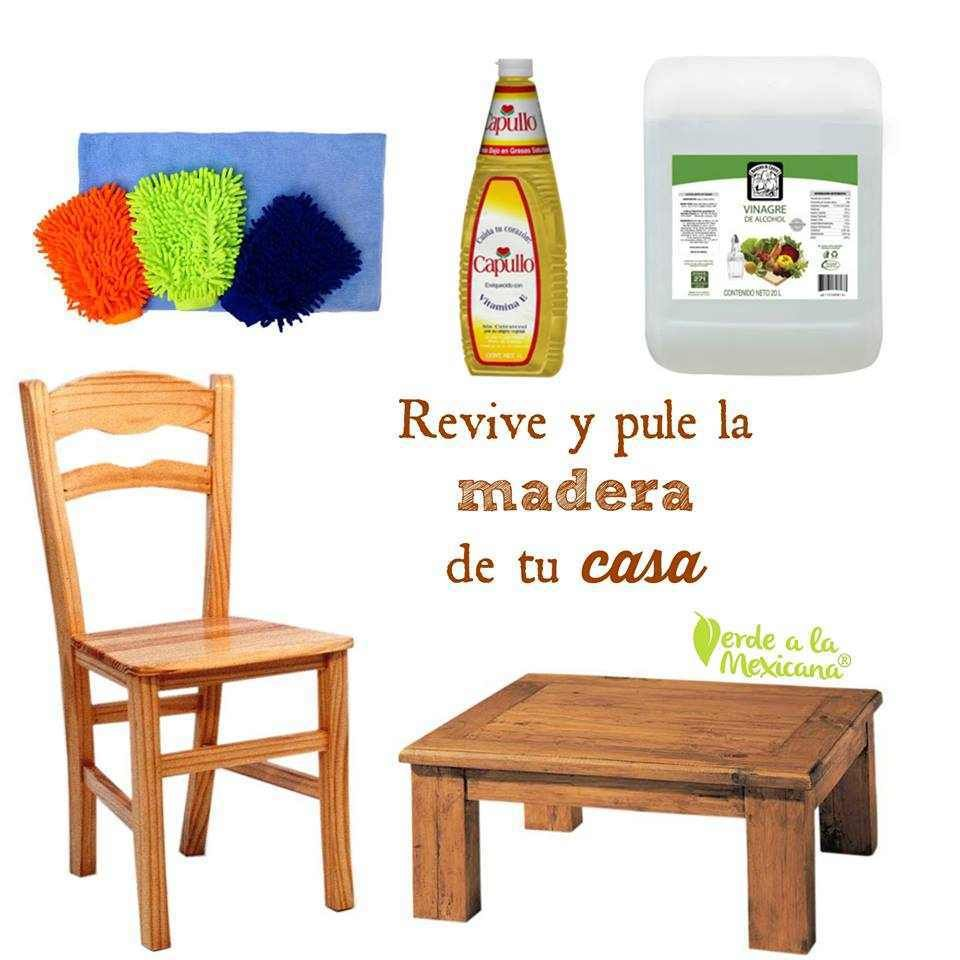 como limpiar los muebles de madera | casa y mas