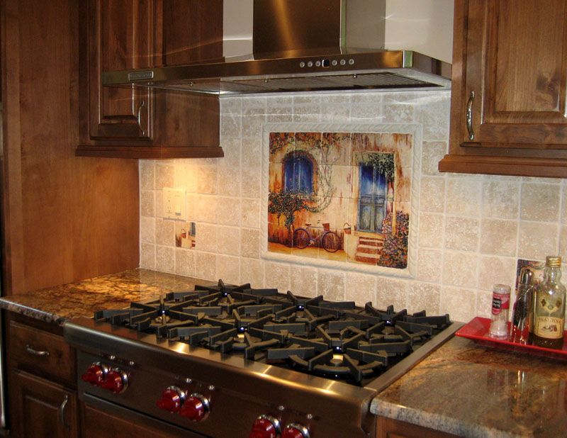 Kitchen Backsplash Wall Of Ages Installed