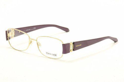 Roberto Cavalli Eyeglasses Ibisco 544 28A Gold/Violet Optical Frame Roberto Cavalli. $99.95