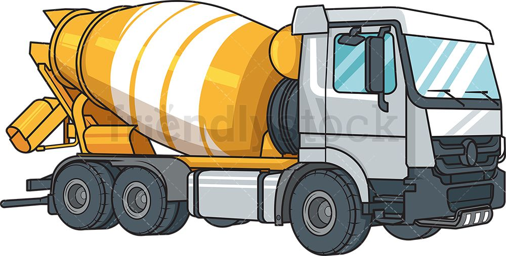 Realistic Cement Mixer Vehicle