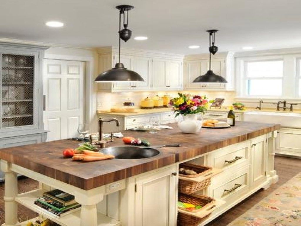 Inspirational Farmhouse Lights Over Kitchen island The