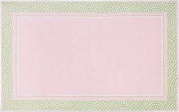 Polka Dot Border Rug, Pink, 3 x ...