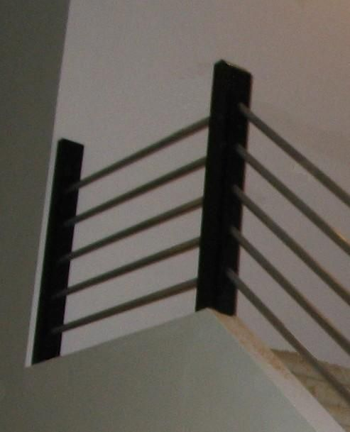 Superior Inexpensive Metal Stair Rail. #Wood #Antlers