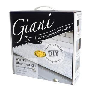 Giani White Diamond Countertop Paint Kit Fg Gi Wht Di The Home Depot Giani Countertop Paint Painting Countertops Giani Countertops