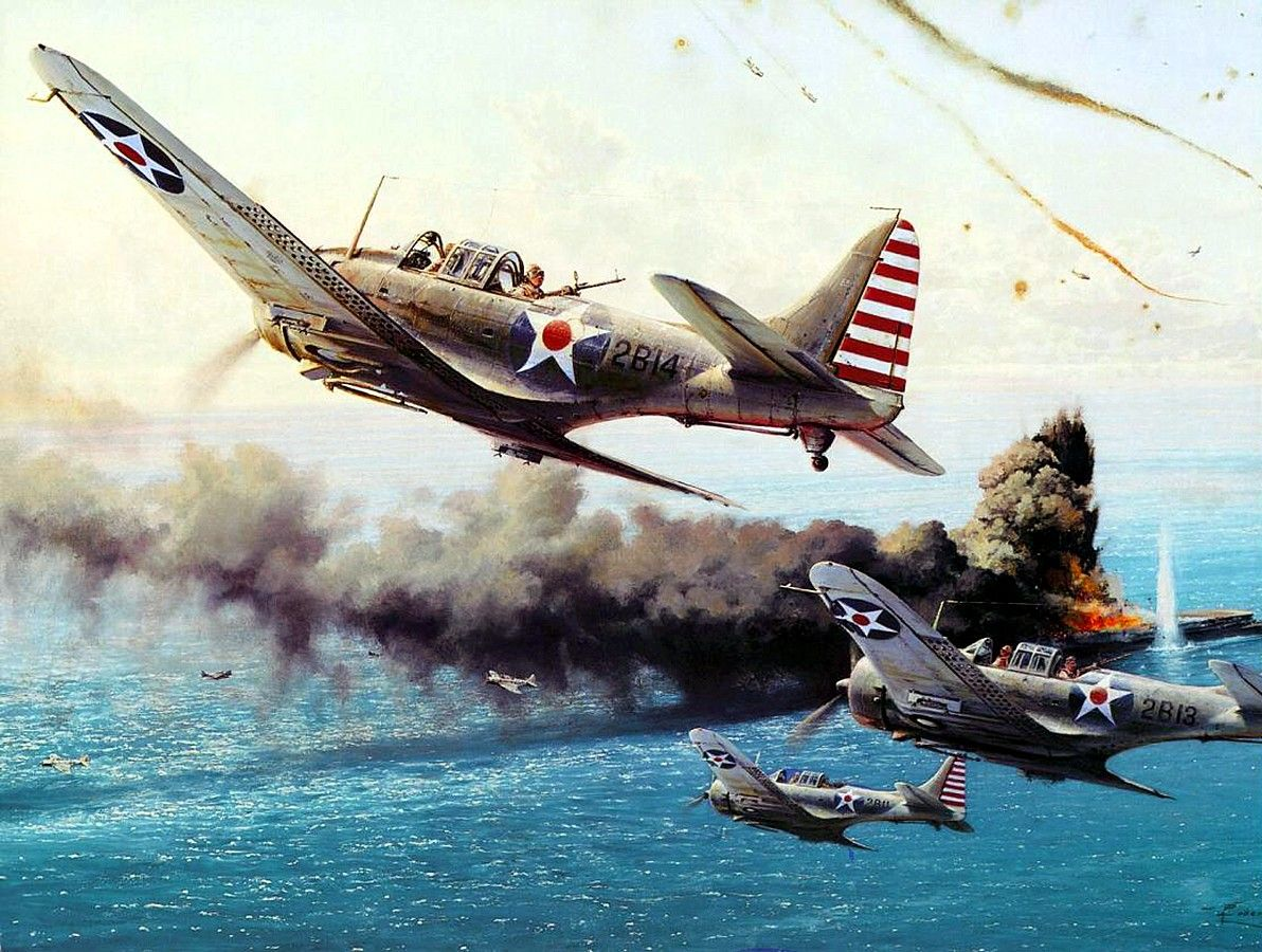 battle of the coral sea,robert taylor (douglas sbd dauntless