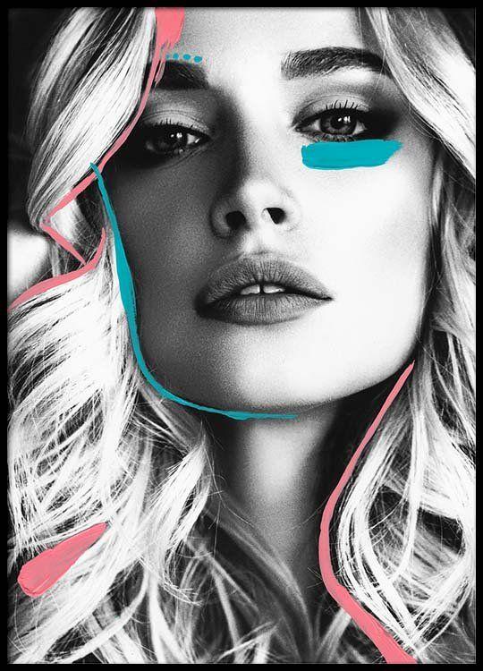 Neon Model Three Poster