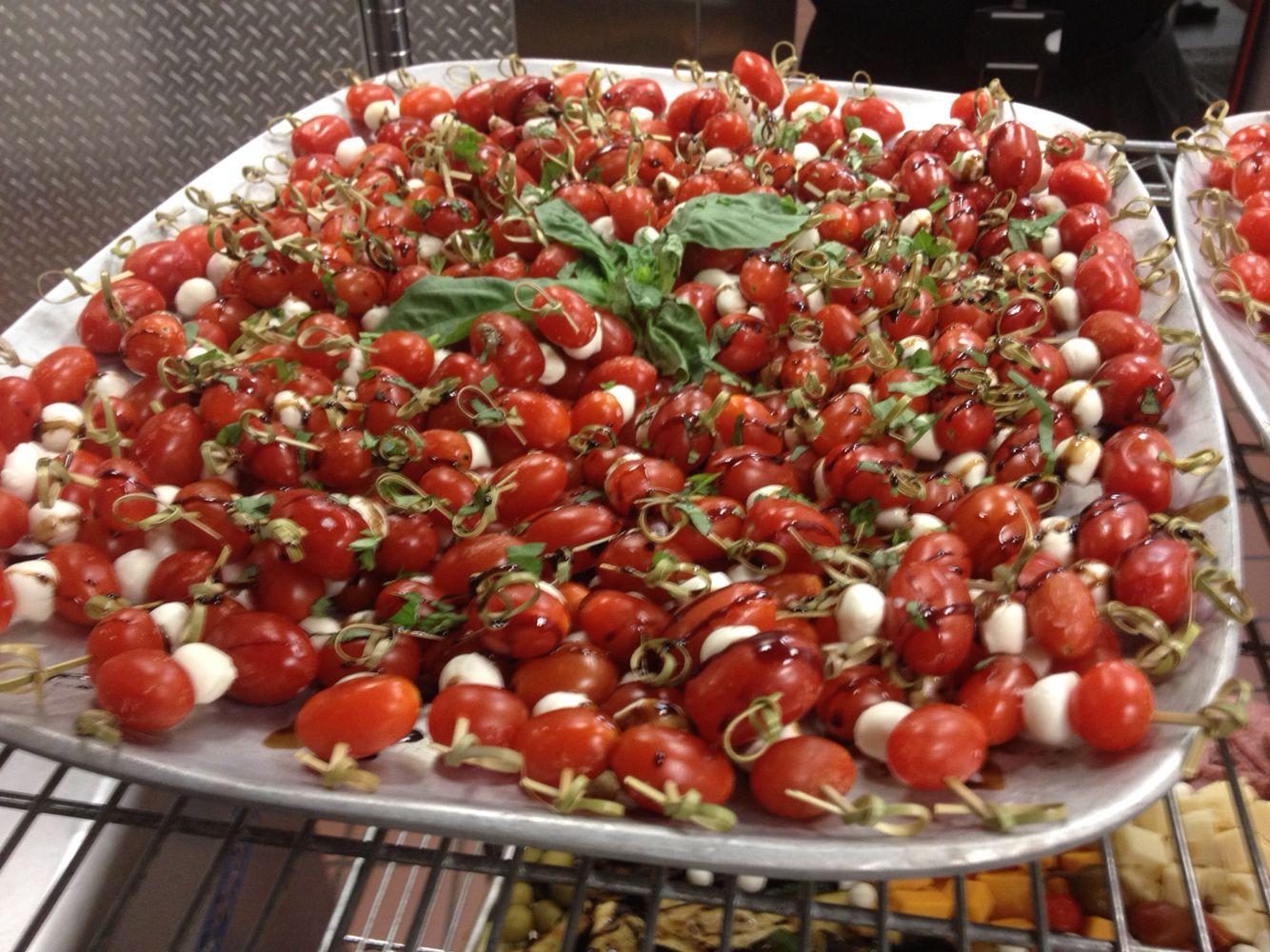 Tomato,mozzarella, and basil