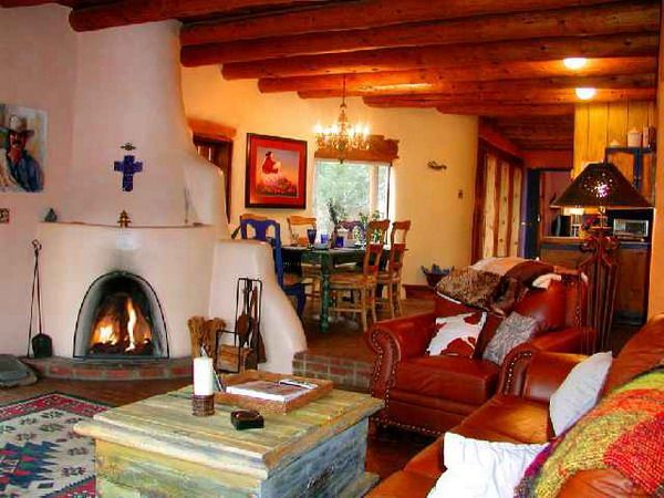 Attirant Images Of Interiors Of Adobe Homes | Southwestern Living Room Style | New  Mexico Style |