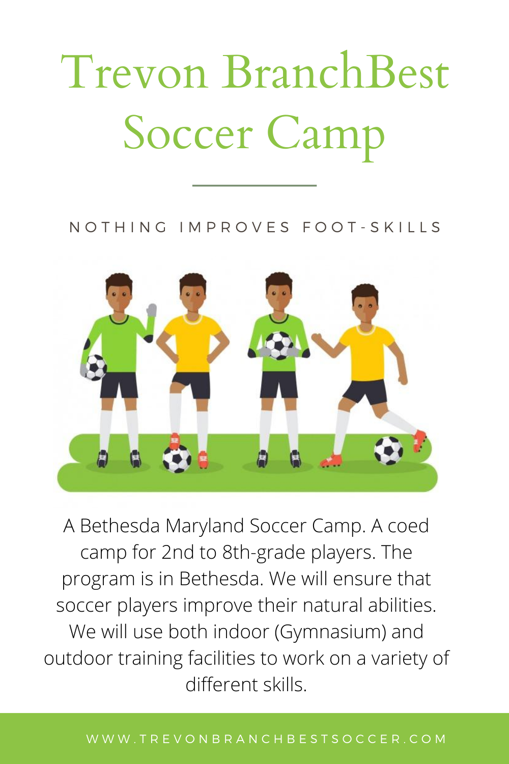Trevon Branch Bethesda Soccer Camp New Jersey In 2020 Soccer Camp Soccer Teaching License