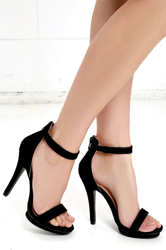 4e30ed2eb6 Our love will never fade for the Suede Away Black Nubuck Platform High Heel  Sandals! These versatile little dress sandals are just perfect in soft  vegan ...
