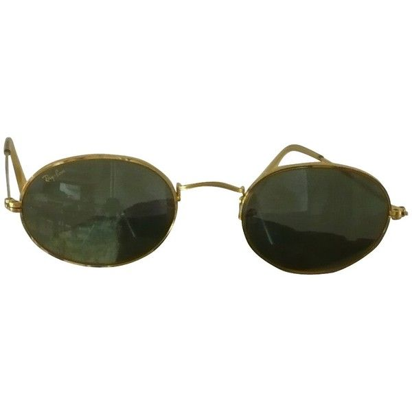 1d0cc6f75c Pre-owned Sunglasses in gold (€139) ❤ liked on Polyvore featuring  accessories