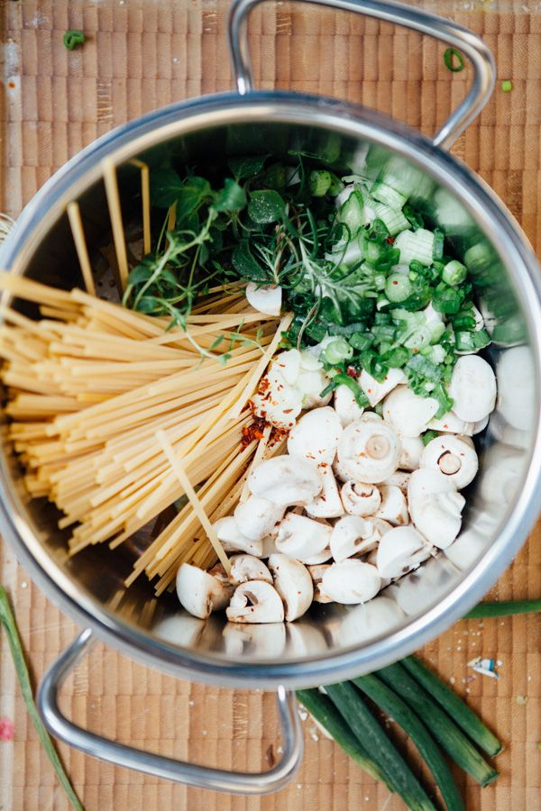 Champignon One Pot Pasta - Seelenfutter aus einem Topf - Kuechenchaotin