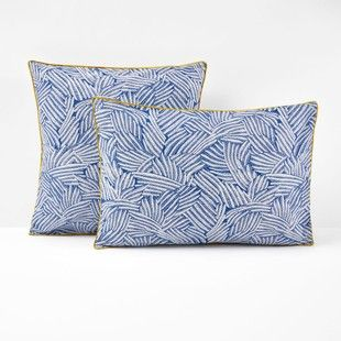 la redoute taie d oreiller Taie d'oreiller imprimée, Mistral Bleu La Redoute Interieurs  la redoute taie d oreiller
