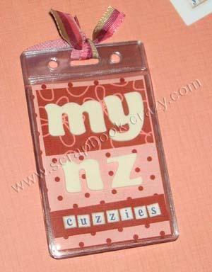 diy make a id badge holder mini album wanna try this pinterest