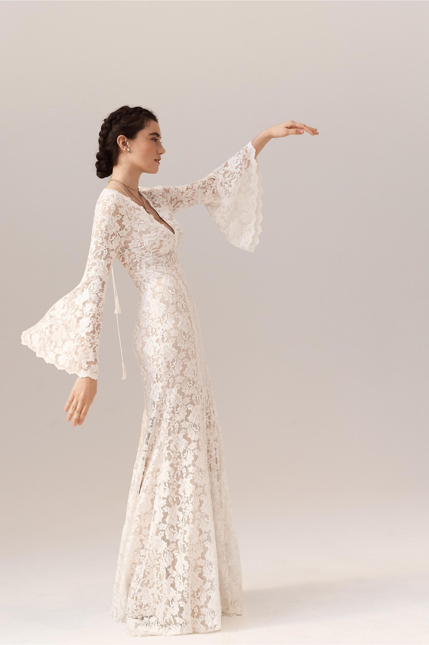 61890f2101b BHLDN Lucca Gown Ivory in Bride