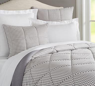 Gingham Check Reversible Comforter Amp Shams Comforters