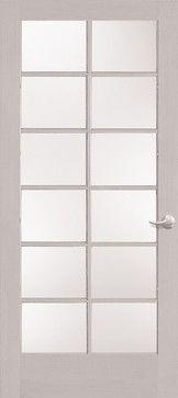 Primed Glass Door 12 Lite Interior Door Styles Wood Doors Interior Doors Interior