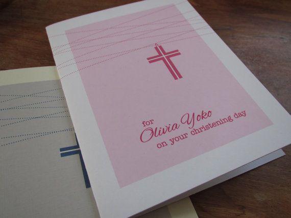 Custom Baptism Christening First Communion by CreaseStudio on Etsy