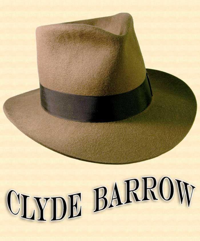 24bdf16b3d8e0 Men s Hat - Clyde Barrow Fedora