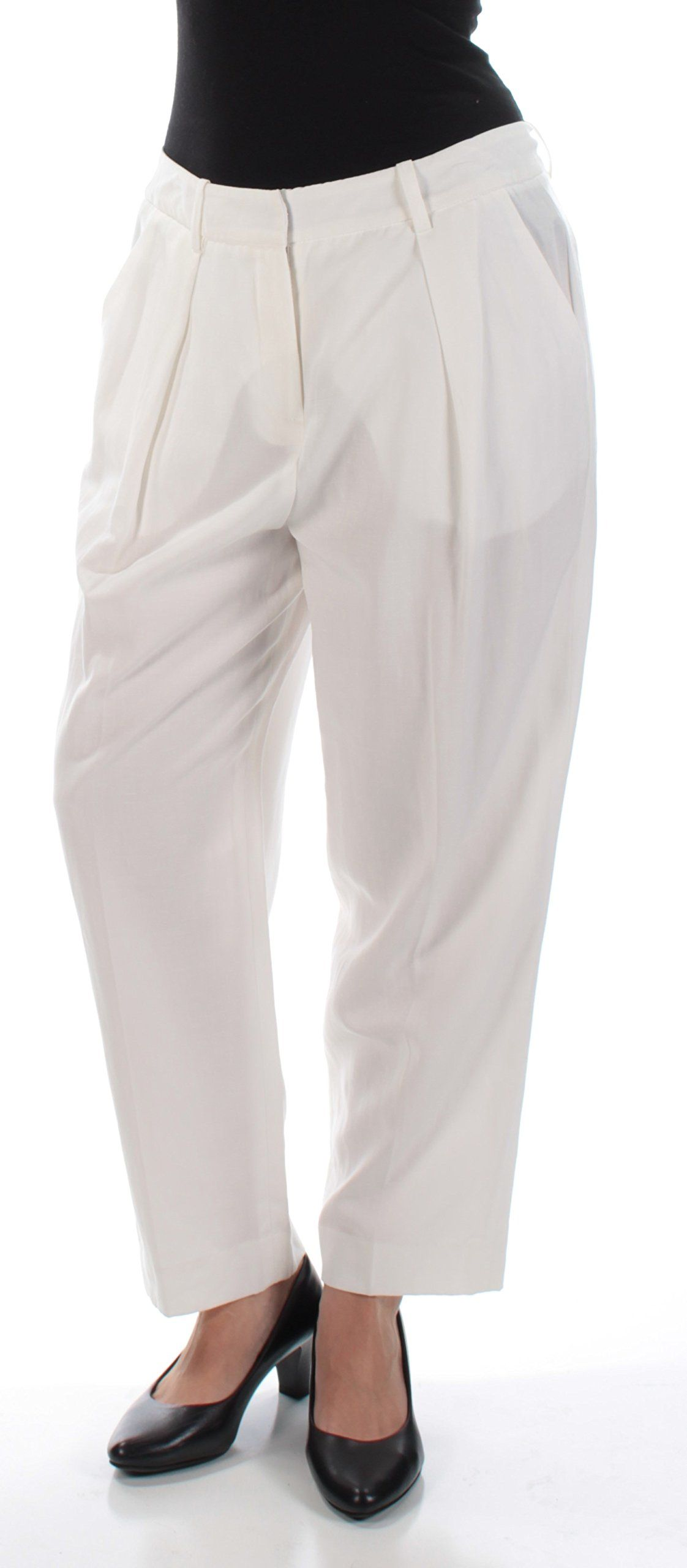 852c603f36c Anne Klein Womens Woven Blend Ziggy Dress Pants White 4     For additional  information