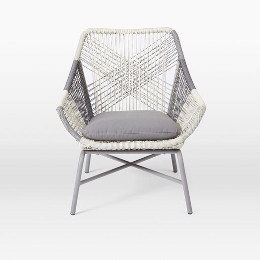 Huron Small Lounge Chair Cushion Gray Seal Small Lounge