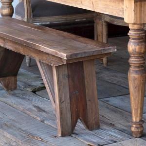 15++ Pine farmhouse bench model
