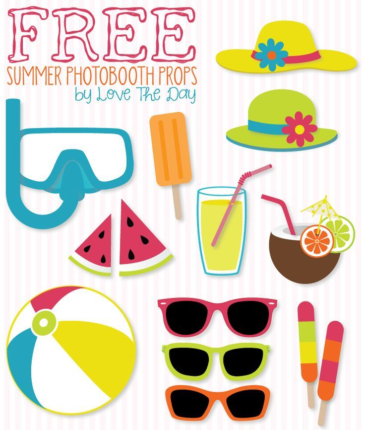 Free Summer Diy Photobooth Props By Love The Day Beach Themed Party Luau Photo Booths Diy Photo Booth