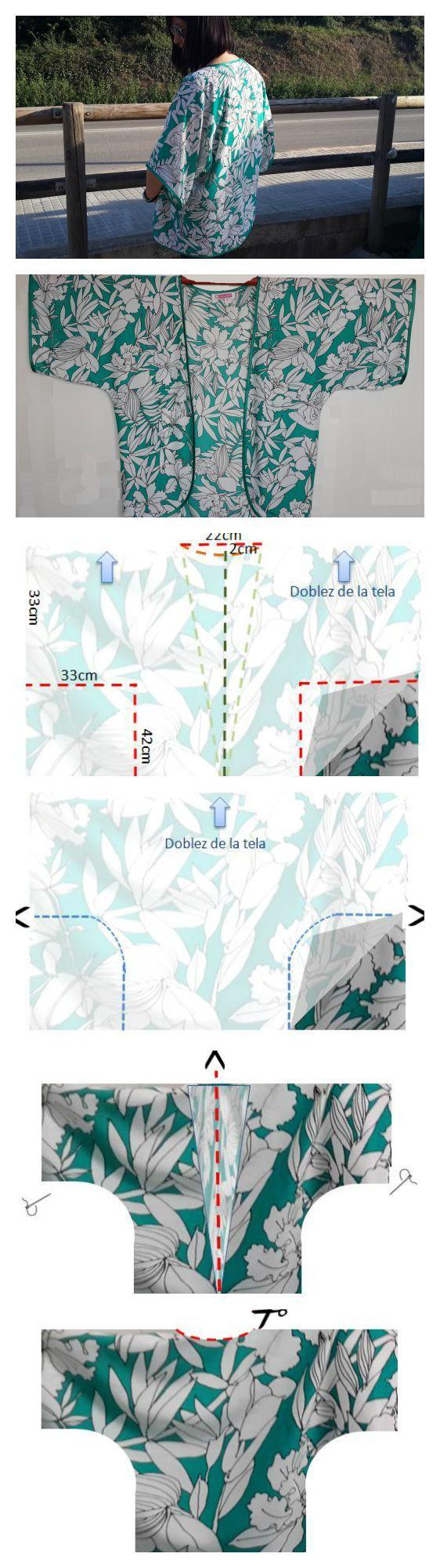 Un kimono muy fácil de hacer | Proyectos que intentar | Pinterest ...