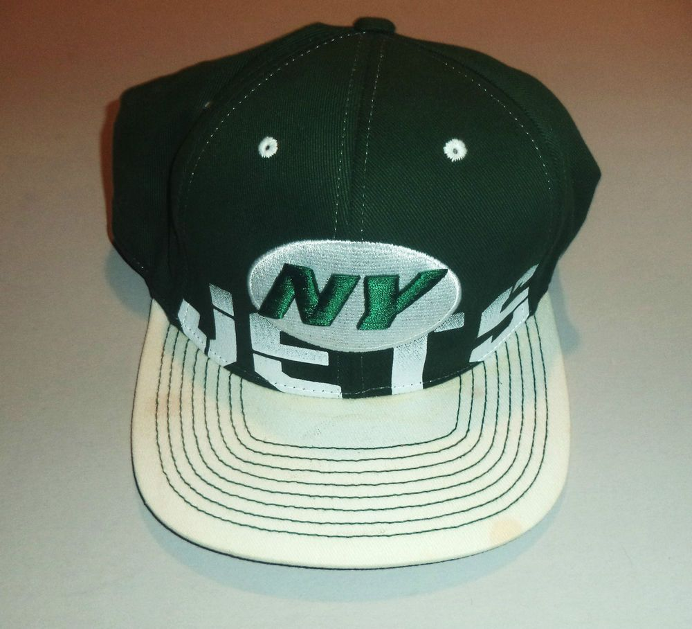 34681b8df91 Men s Green   White NY JETS REEBOK NFL Embroidered Hat