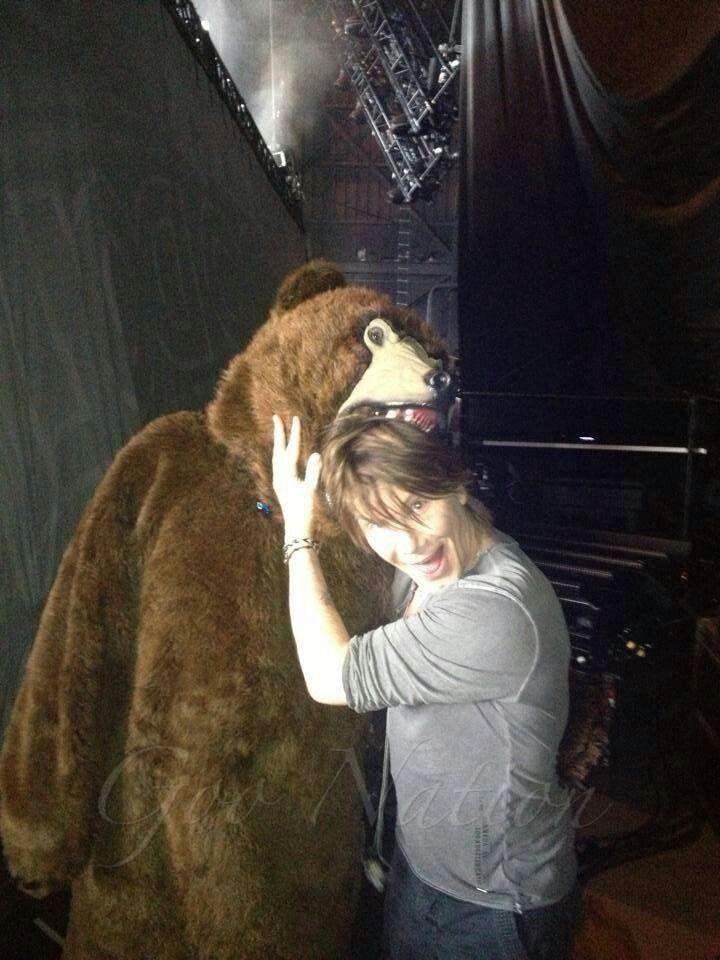 John Rzeznik & a bear