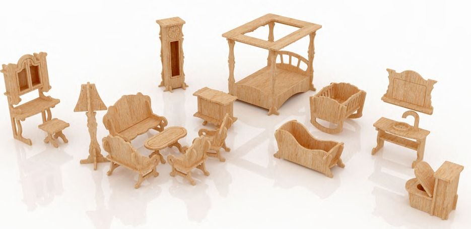 Muebles para mu ecas de fibrofacil buscar con google - Como hacer muebles para casa de munecas ...