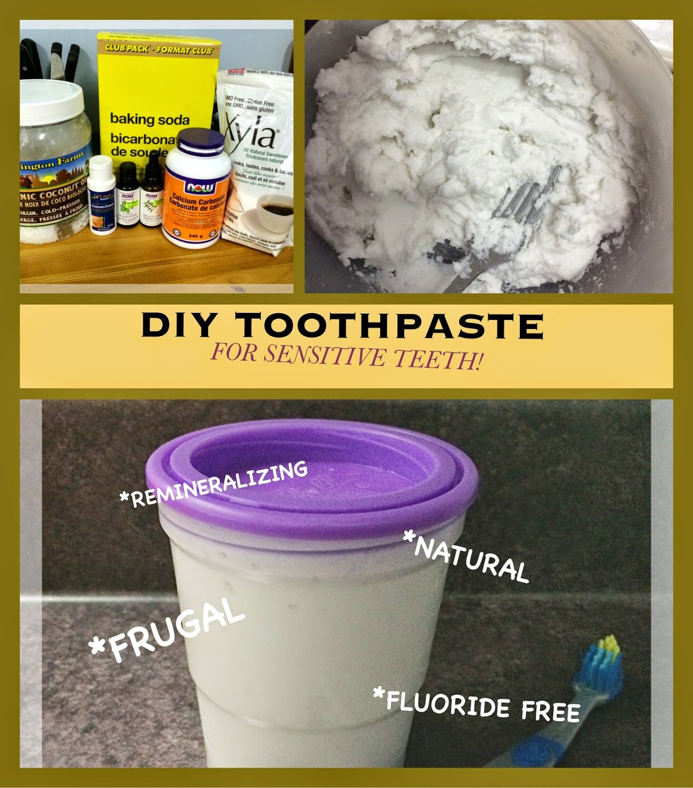 Diy remineralizing toothpaste for sensitive teeth