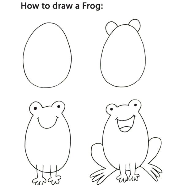 How To Draw Baby Animals Step By Step For Kids How To Draw Cute Animals For Kids How To Draw Cute Animals Rock Painti Drawings Drawing For Kids Drawing Lessons