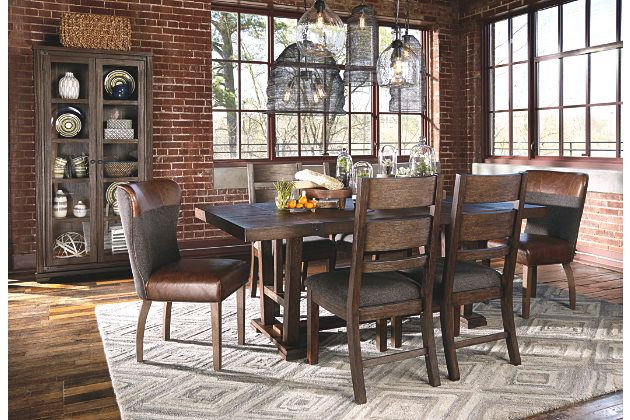 Medium Brown Zenfield Dining Room Table View 5