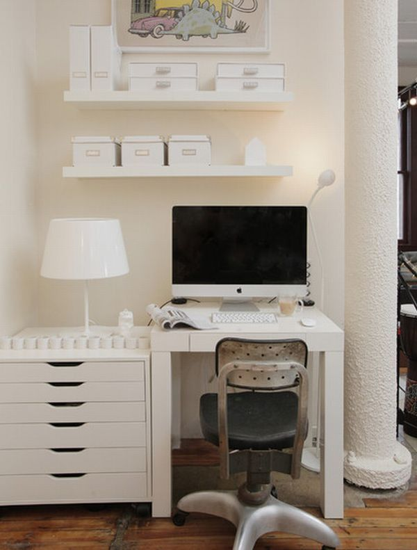 white furniture office