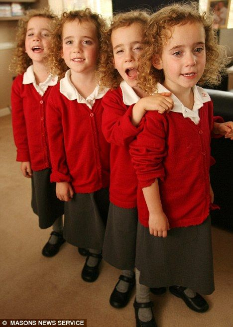 First Day At School For Britains Only Identical Quadruplets And A