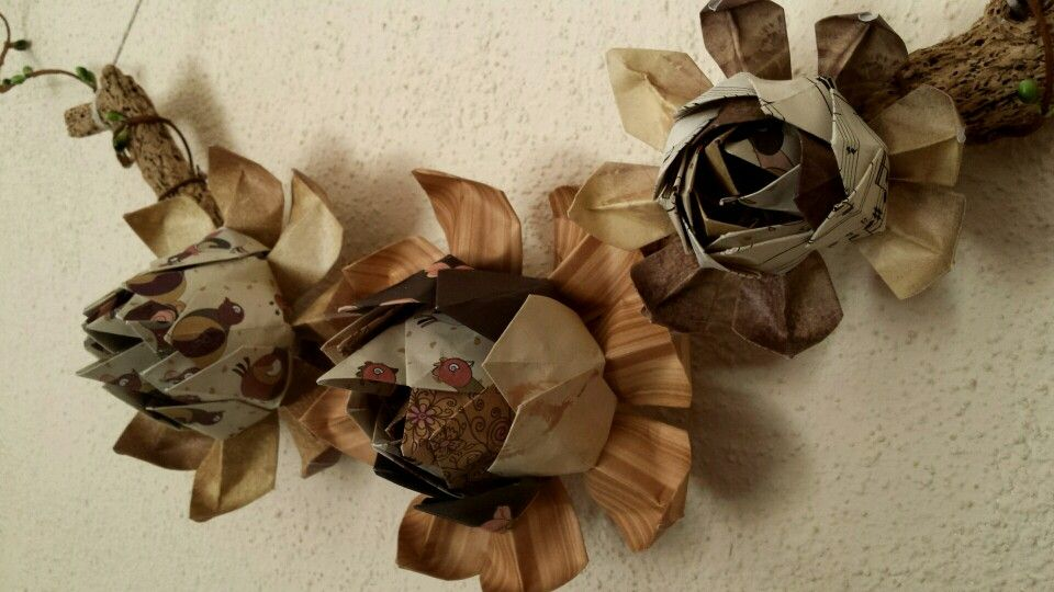 Brown tone paper lotus flowers mounted on driftwood available to brown tone paper lotus flowers mounted on driftwood available to order mightylinksfo