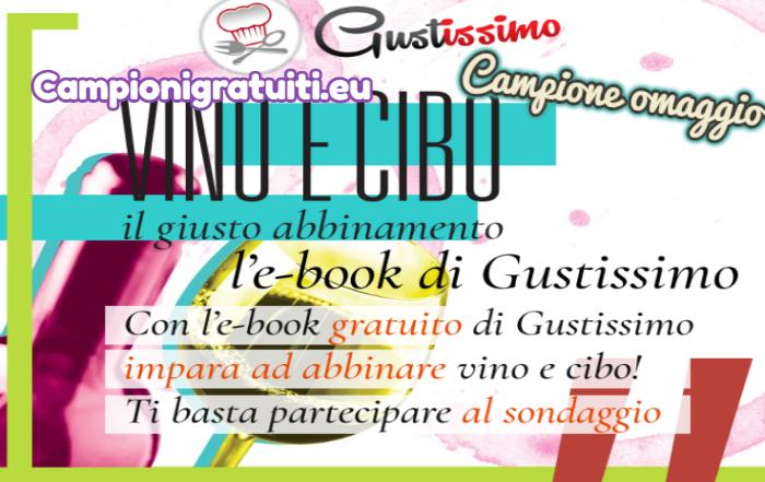 """Campione Gratuito Ricettario Gustissimo """"Vino e Cibo"""""""