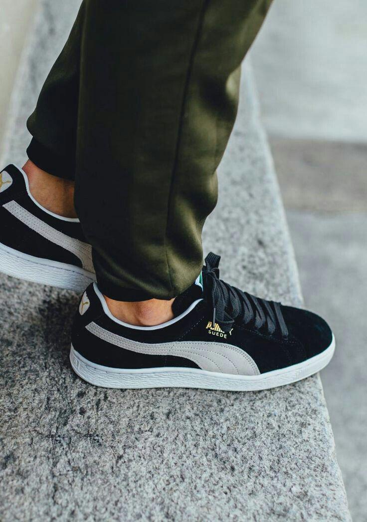 Puma suede classic+ - Black color #shoes #Puma #Pumasuede ...