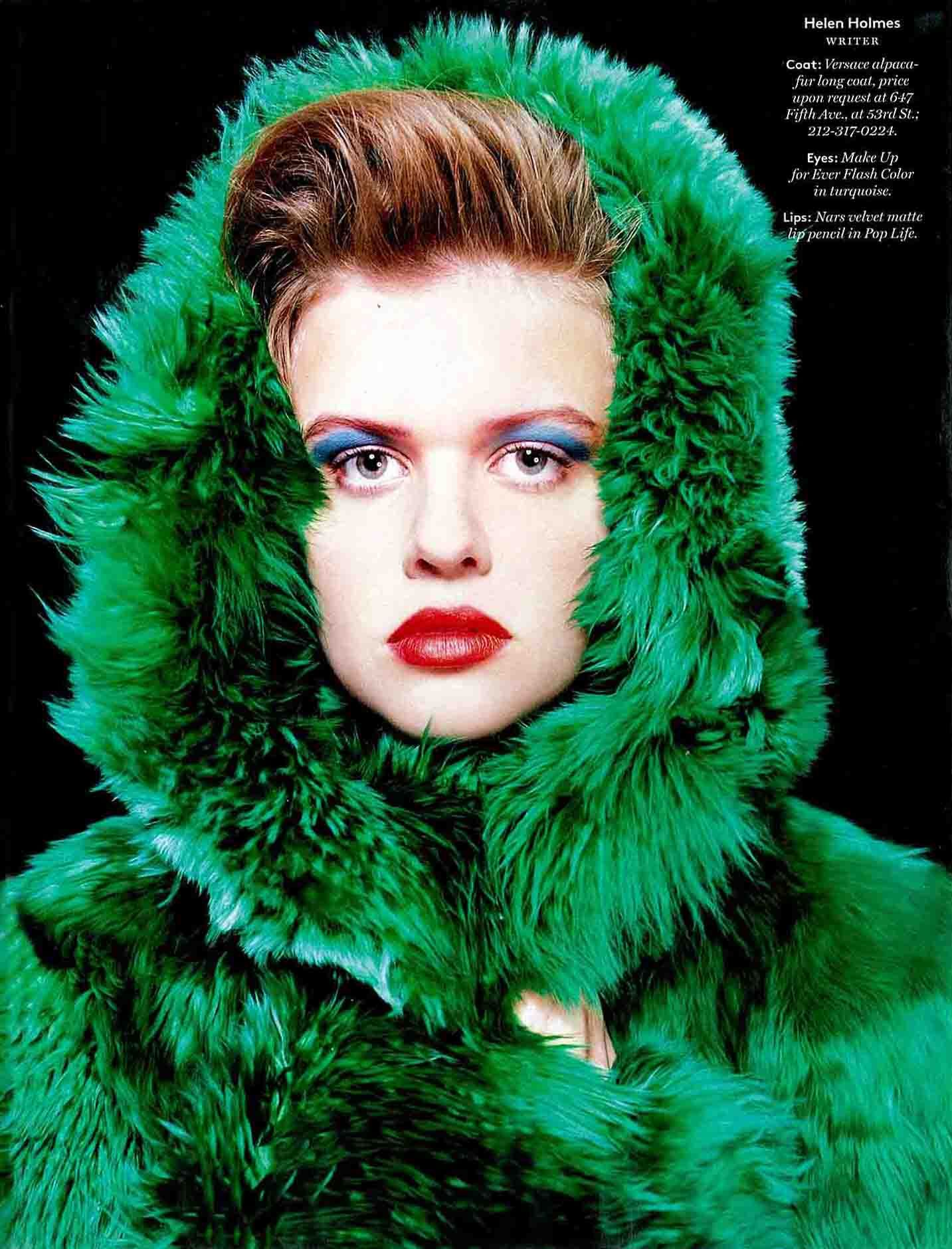 Green with envy fur jacket