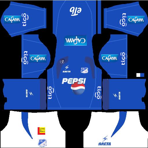 Pin En Kits Y Uniformes De Millonarios Fc Para Dream League Soccer Y Fts