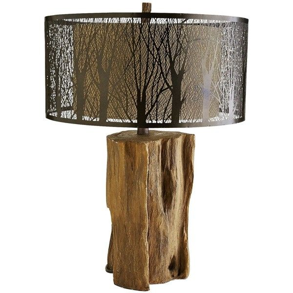Pier 1 Imports Bronze Etched Birches Lamp ($149) ❤ liked on Polyvore featuring home, lighting, table lamps, lamps, bronze, brown lamps, colored lamps, bronze table lamps, colored light and brown shade